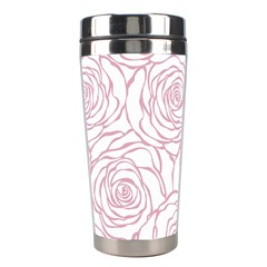 Pink Peonies Stainless Steel Travel Tumblers by 8fugoso