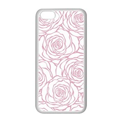 Pink Peonies Apple Iphone 5c Seamless Case (white) by 8fugoso