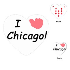 I Heart Chicago  Playing Cards (heart)  by SeeChicago