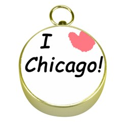 I Heart Chicago  Gold Compasses by SeeChicago