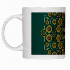 Snow Flower In A Calm Place Of Eternity And Peace White Mugs by pepitasart