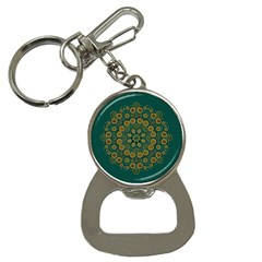 Snow Flower In A Calm Place Of Eternity And Peace Bottle Opener Key Chains by pepitasart
