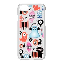 Funky Monsters Pattern Apple Iphone 8 Seamless Case (white) by allthingseveryday
