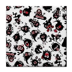 Goofy Monsters Pattern  Face Towel