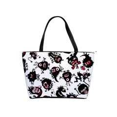 Goofy Monsters Pattern  Shoulder Handbags