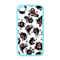 Goofy Monsters Pattern  Apple Iphone 4 Case (color)