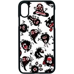 Goofy Monsters Pattern  Apple Iphone X Seamless Case (black) by allthingseveryday