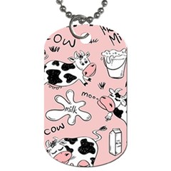 Fresh Milk Cow Pattern Dog Tag (two Sides) by allthingseveryday