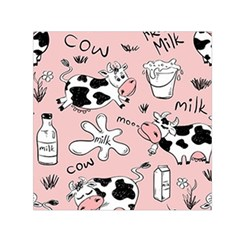 Fresh Milk Cow Pattern Small Satin Scarf (square) by allthingseveryday