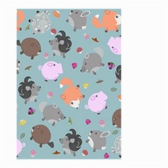 Little Round Animal Friends Small Garden Flag (two Sides) by allthingseveryday