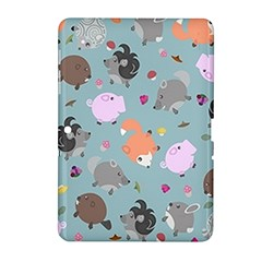 Little Round Animal Friends Samsung Galaxy Tab 2 (10 1 ) P5100 Hardshell Case  by allthingseveryday