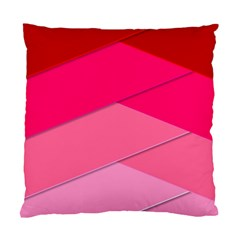 Geometric Shapes Magenta Pink Rose Standard Cushion Case (two Sides)