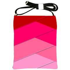 Geometric Shapes Magenta Pink Rose Shoulder Sling Bags