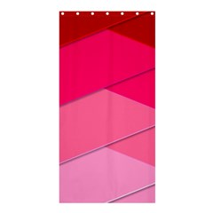 Geometric Shapes Magenta Pink Rose Shower Curtain 36  X 72  (stall)  by Celenk