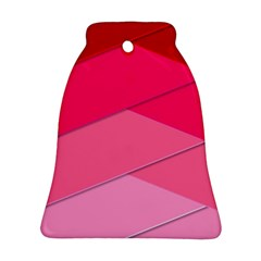 Geometric Shapes Magenta Pink Rose Ornament (bell)