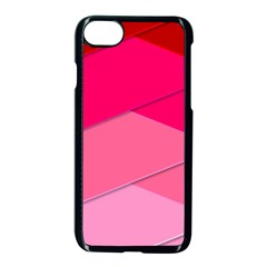 Geometric Shapes Magenta Pink Rose Apple Iphone 8 Seamless Case (black) by Celenk
