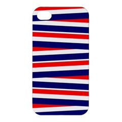 Red White Blue Patriotic Ribbons Apple Iphone 4/4s Hardshell Case by Celenk