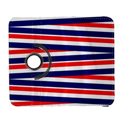Red White Blue Patriotic Ribbons Galaxy S3 (flip/folio) by Celenk