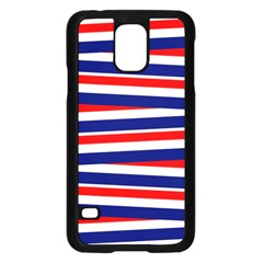 Red White Blue Patriotic Ribbons Samsung Galaxy S5 Case (black)