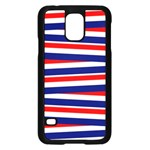 Red White Blue Patriotic Ribbons Samsung Galaxy S5 Case (Black) Front