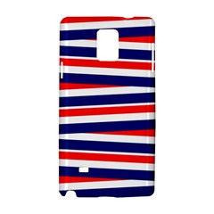 Red White Blue Patriotic Ribbons Samsung Galaxy Note 4 Hardshell Case by Celenk