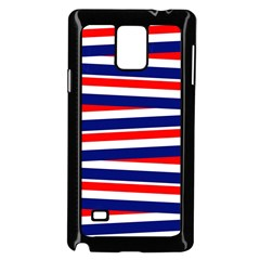 Red White Blue Patriotic Ribbons Samsung Galaxy Note 4 Case (black) by Celenk