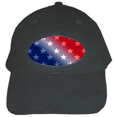 America Patriotic Red White Blue Black Cap by Celenk