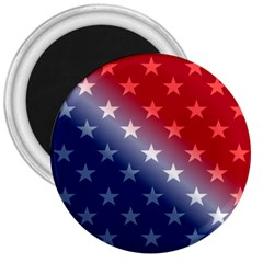 America Patriotic Red White Blue 3  Magnets by Celenk