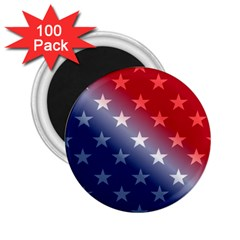 America Patriotic Red White Blue 2 25  Magnets (100 Pack)