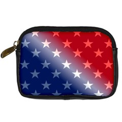 America Patriotic Red White Blue Digital Camera Cases by Celenk