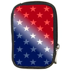 America Patriotic Red White Blue Compact Camera Cases