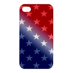 America Patriotic Red White Blue Apple Iphone 4/4s Hardshell Case by Celenk