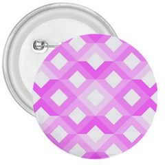 Geometric Chevrons Angles Pink 3  Buttons by Celenk