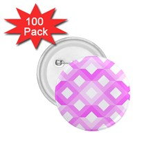 Geometric Chevrons Angles Pink 1 75  Buttons (100 Pack)  by Celenk