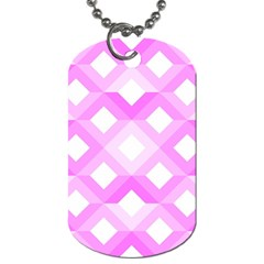 Geometric Chevrons Angles Pink Dog Tag (two Sides)