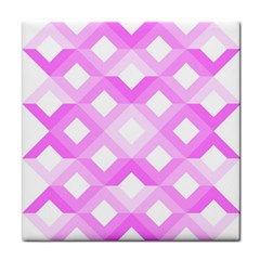 Geometric Chevrons Angles Pink Face Towel by Celenk