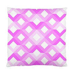 Geometric Chevrons Angles Pink Standard Cushion Case (two Sides)