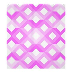 Geometric Chevrons Angles Pink Shower Curtain 66  X 72  (large)  by Celenk