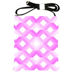 Geometric Chevrons Angles Pink Shoulder Sling Bags