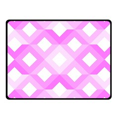 Geometric Chevrons Angles Pink Fleece Blanket (small) by Celenk
