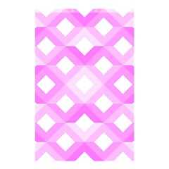 Geometric Chevrons Angles Pink Shower Curtain 48  X 72  (small)  by Celenk