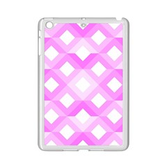 Geometric Chevrons Angles Pink Ipad Mini 2 Enamel Coated Cases by Celenk