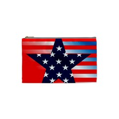 Patriotic American Usa Design Red Cosmetic Bag (small)