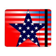 Patriotic American Usa Design Red Samsung Galaxy Tab Pro 8 4  Flip Case by Celenk