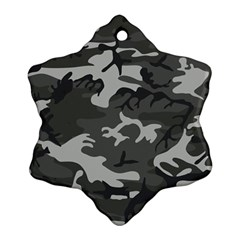 Camouflage Pattern Disguise Army Ornament (snowflake)