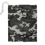Camouflage Pattern Disguise Army Drawstring Pouches (XXL) Back