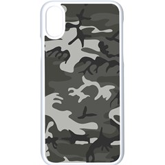 Camouflage Pattern Disguise Army Apple Iphone X Seamless Case (white)