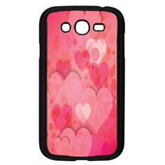 Pink Hearts Pattern Samsung Galaxy Grand Duos I9082 Case (black) by Celenk