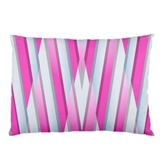 Geometric 3d Design Pattern Pink Pillow Case (two Sides)