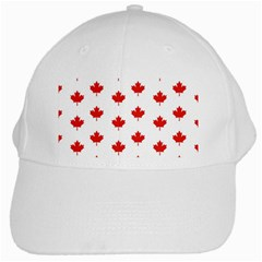 Maple Leaf Canada Emblem Country White Cap by Celenk